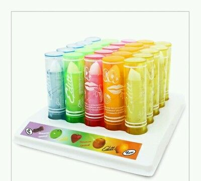 Set of 5 fruity flavoured Lip balm gloss lipstick girls fruit scented gift xmas