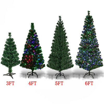 3FT 4FT 5FT 6FT Artificial Fiber Optic Christmas Tree Xmas Light Decoration New