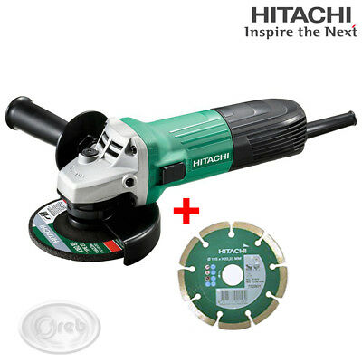 SMERIGLIATRICE HITACHI G12STA 600W DISCO 115mm. 12000 rpm + DISCO DIAMANTATO
