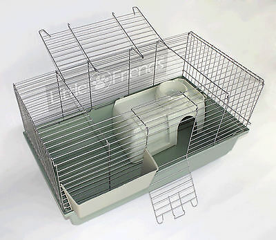 LITTLE FRIENDS NEW RABBIT GUINEA PIG INDOOR CAGE SILVER - 80cm NO ACCESSORIES