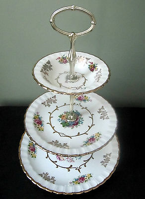 """Wood and Sons Three Tier Server """"Alpine White"""""""