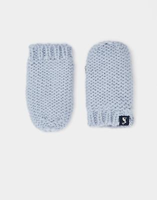 Joules 124471 Baby Boys Paws Knitted Mittens in Skyblue Size M/L