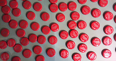 90 RED budweiser twist Beer Bottle Tops Caps Craft projects Crown Man Cave Art