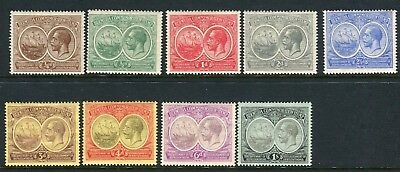BERMUDA-1920 Tercentenary.  A mounted mint set of 9 values Sg 59-67