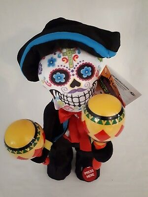 Halloween Day Of The Dead Dancing Skeleton With Maracas Brand New