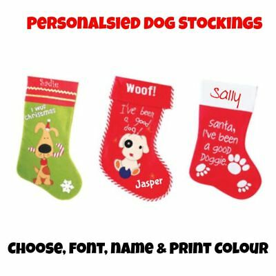 Personalised Santa Pet Christmas Stocking for Dog / Puppy