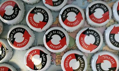 50 Beer Bottle Tops Caps Craft projects Red White & Blue Twist Bar Man Cave Art