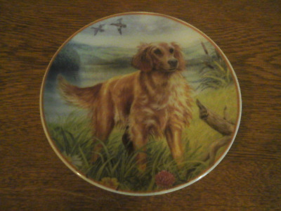 'Golden Retriever' Vintage Regency Fine Arts decorative hanging plate