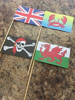 Sand Castle Flags Pack Of 4 High Quality