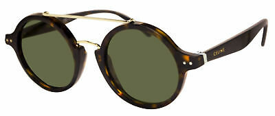 61110ef84b94 Celine 41436 S-086-1E brown havana tortoise frame green 47mm lens sunglasses