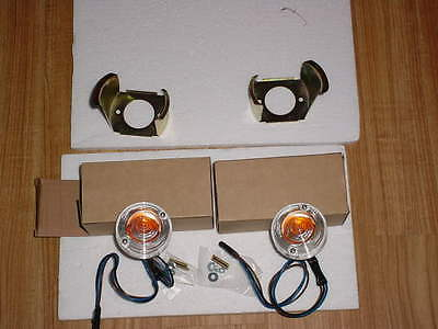 1967-68 ford mustang 1 pr of  PARKING LIGHT HOUSINGS and RETAINERS
