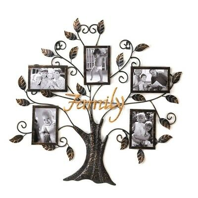 Family Tree Collage Multi Photo Frame Wall Sign Plaque 2 Designs Mixed NIB