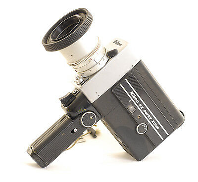 Nikon 8x Zoom 8mm Cine Movie Camera will not power up show only (7468)