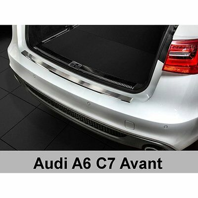 DCP Stainless steel rear bumper protector for Audi A6 C7  4G Avant  2011>