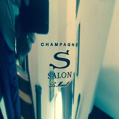 Rare, Handsome, Iconic Champagne Salon de Mesnil Footed Pewter Refraichissoir