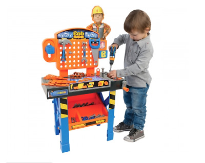 Smoby Bob The Builder Super Workbench With Tools & Drill, Diy Brand New