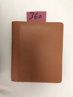 A5 Brown  Leather folder  (style 360) also holds A5 diary