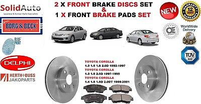 17072 FRONT BRAKE DISCS AND PADS FOR TOYOTA COROLLA VERSO 2.2D-4D 11//2005-12//200