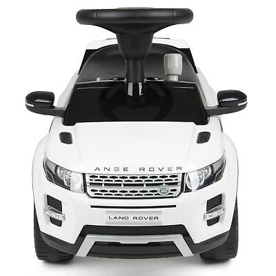 WHITE Childrens Push Along Ride on Ride On Kids Car Toy 4x4 Range rover
