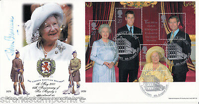 2000 Queen Mother - Bradbury 'Clarence House' Official - Signed COL. CLEMENCE