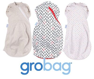 Grobag Gro Snug 2-in-1 Swaddle + Grobag - Cosy/Light *Many Designs*