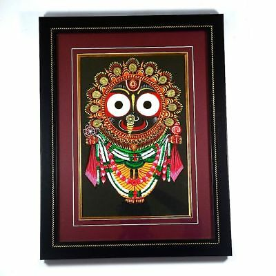 IMI HandCrafted Wall Hanging Frame Dokra Art Holy Jagannath