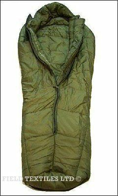 LARGE SLEEPING BAG WITH COMPRESSION SACK - British Army Military - Green - Used
