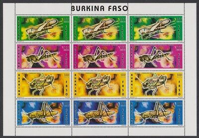 Burkina Faso Insects Locusts sheetlet of 3 sets SC#1073B