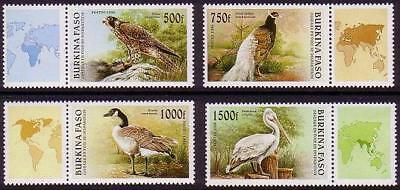 Burkina Faso Birds with labels MI#1406-1409