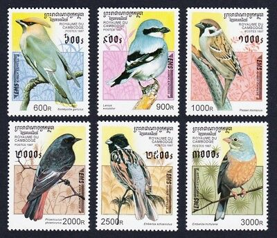 Cambodia Song Birds 6v issue 1997 SG#E1624-29 SC#1598-1603 MI#684-689 CV£10+