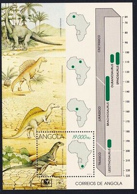 Angola Dinosaurs MS SG#MS1065 SC#910