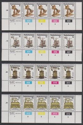 Bophuthatswana History of the Telephone 2nd series 4v Bottom Strips with Control