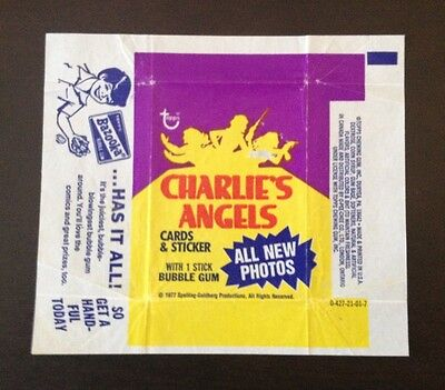 "1977 Topps ""Charlie's Angels - Series 3"" - Wax Pack Wrapper"