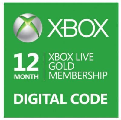E-Code Microsoft Xbox LIVE 12 Month Gold Membership for Xbox 360 / XBOX ONE