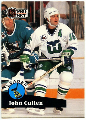 John Cullen #CC9 Whalers Pro Set Collectables 1991-2 Ice Hockey Card (C532)