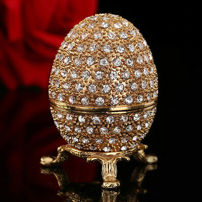 metal gold stone Easter and Faberge egg craft ornaments for homegarden decor