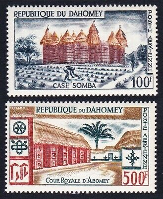 Dahomey Local Life and Architecture Airmail 2v SG#145-146 SC#C14-C15 MI#173-174