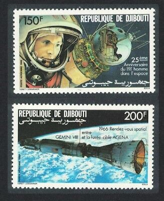 Djibouti 25th Anniversary of First Man in Space 2v SG#992-993