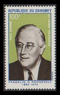 Dahomey 25th Death Anniversary of Franklin Roosevelt 1v SG#391 SC#C116