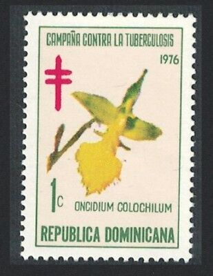Dominican Rep. Orchid Obligatory Tax Tuberculosis Relief Fund 1v SG#1251
