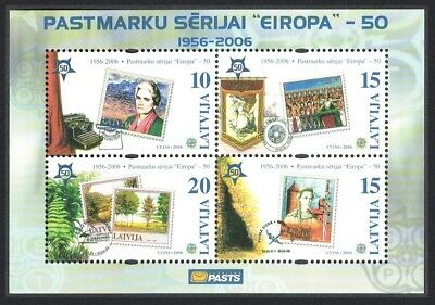 Latvia 50th Anniversary of Europa CEPT stamps MS SG#MS658
