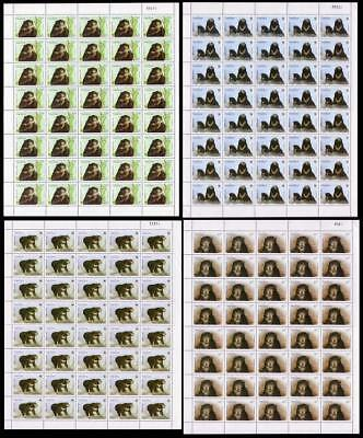 Laos WWF Sun Bear 4 Full Sheets of 40 stamps 40 sets SG#1396-1399 SC#1174-1177