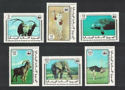 Mauritania Birds WWF Endangered Animals 6v SG#573-578 SC#383-388 MI#595-600