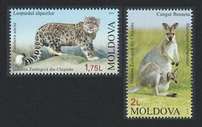 Moldova Leopard Wallaby Zoological Garden 2v MI#831-832