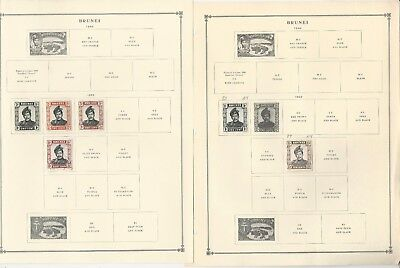 Brunei Collection 1908-1992 on Scott International Pages, About 30 Pages