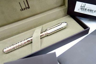 New Mint & Boxed Dunhill Sidecar Alligator Fountain Pen In Palladium Finish