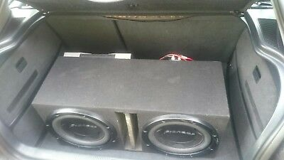 """Pioneer Subwoofer 2x12"""", Kenwood Amplifier KDC-PS810D 1600W and power cap+ wires"""