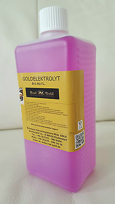 Goldelektrolyt - Hartvergolden - 100 ml - 8 Gramm Gold /L. Goldsolution - TOP!