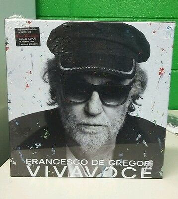 lp FRANCESCO DE GREGORI VIVAVOCE BOX 4 VINILI +2CD +BOOKLET SIGILLATO N292/1000