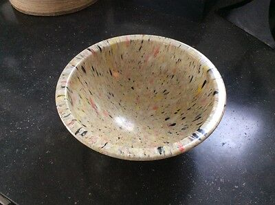 Splatter Confetti Texas Ware #111 Melmac Mixing Bowl Black Pink Yellow White